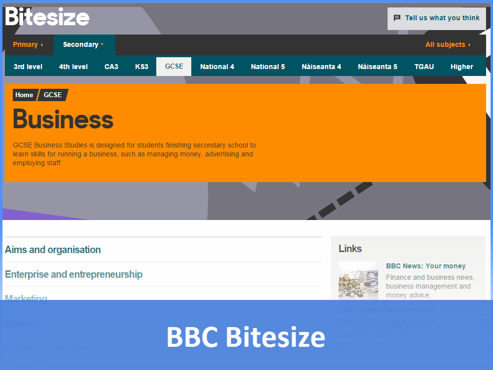 BBC Bitesize - Business