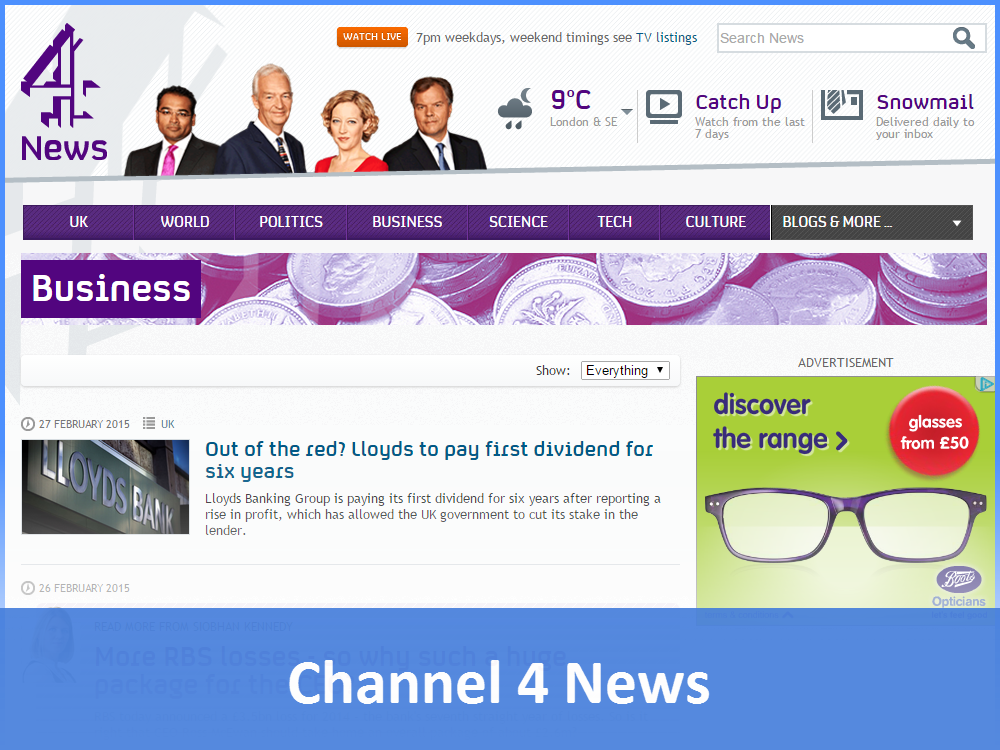Channel 4 News - Business