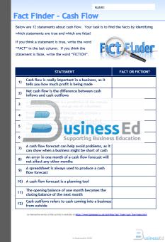 Fact Finder Cash Flow